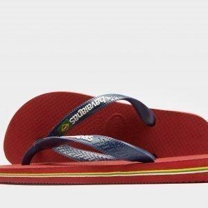 Havaianas Brasil Logo Sandaalit Punainen