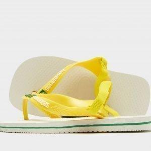Havaianas Brazil Logo Sandaalit Valkoinen