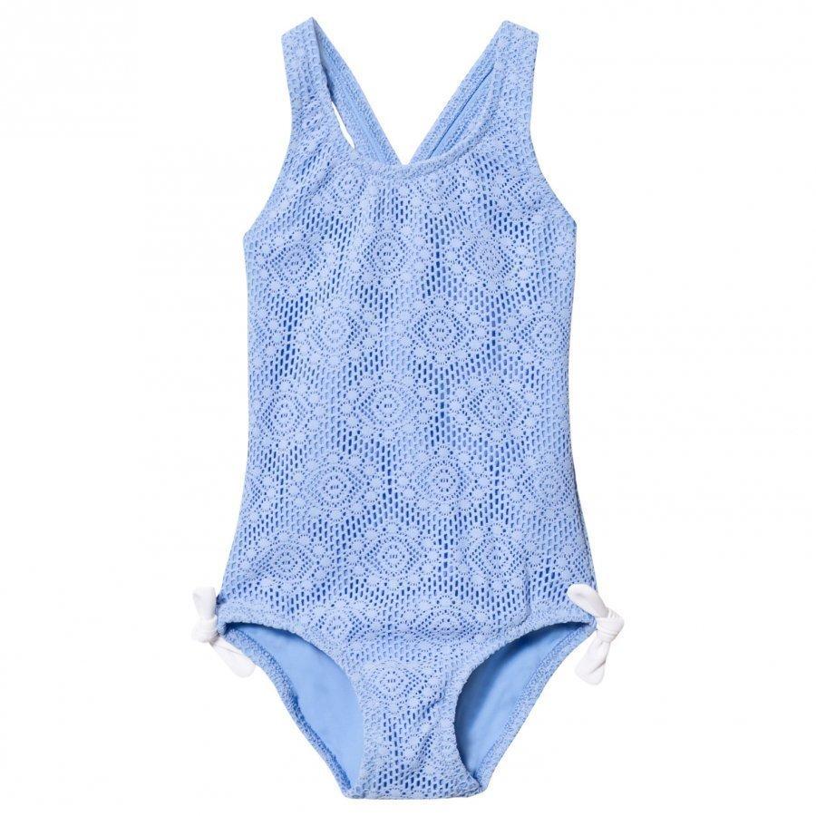 Heidi Klein Blue Jamie Crochet Swimsuit Uimapuku