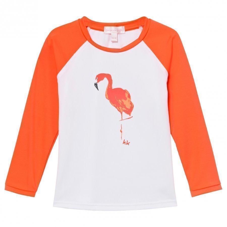 Heidi Klein Sammy Flamingo Print Rash Vest Uv-Paita