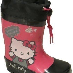 Hello Kitty Kumisaappaat Musta/Pinkki