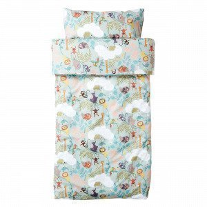 Hemtex Baby Lazy Jungle Eco 100x130 55x35cm Bed Monivärivihreä 100x130cm