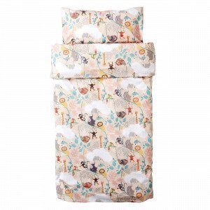 Hemtex Baby Lazy Jungle Eco 100x130 55x35cm Bed Roosa 100x130cm