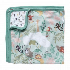 Hemtex Baby Lazy Jungle Eco Blanket Monivärivihreä 70x70cm
