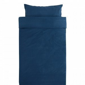 Hemtex Baby Smooth Eco 100x130 55x35cm Bedset Smooth Denimsininen