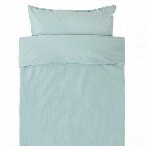 Hemtex Baby Smooth Eco 100x130 55x35cm Bedset Smooth Sininen