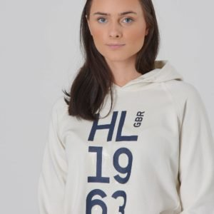 Henri Lloyd Oh Embossed Lb Logo Hoodie With Pockets Huppari Valkoinen