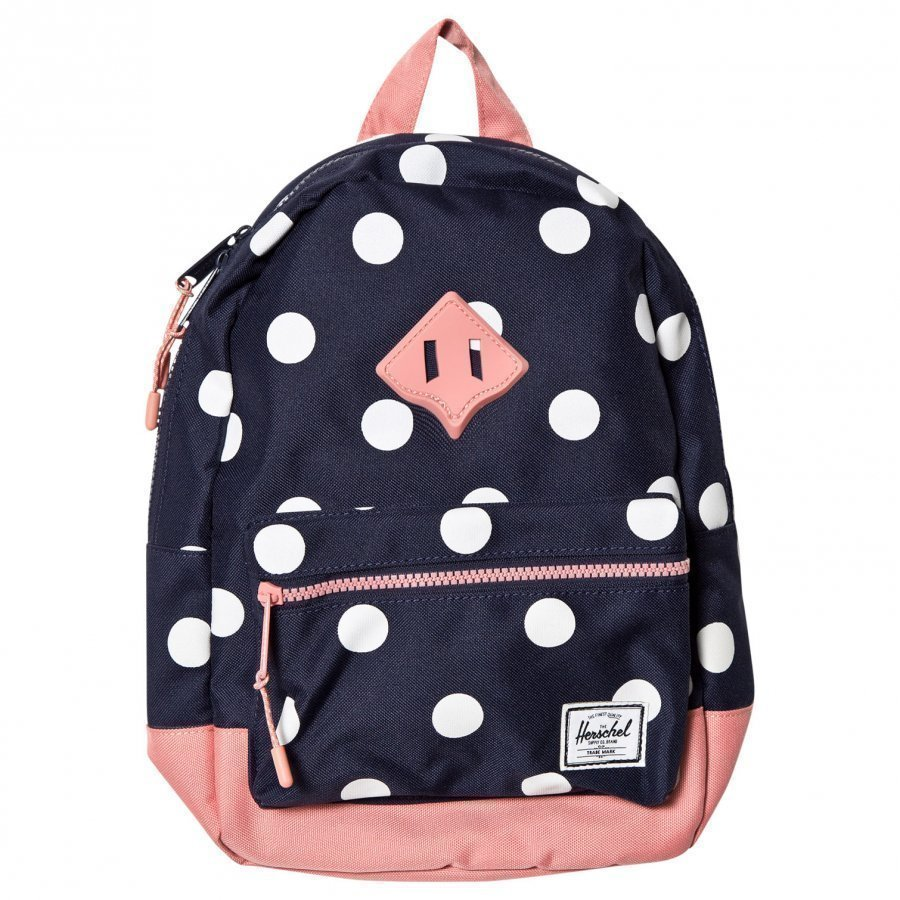 Herschel Heritage Kids Backpack Peacoat Polka Dot Reppu