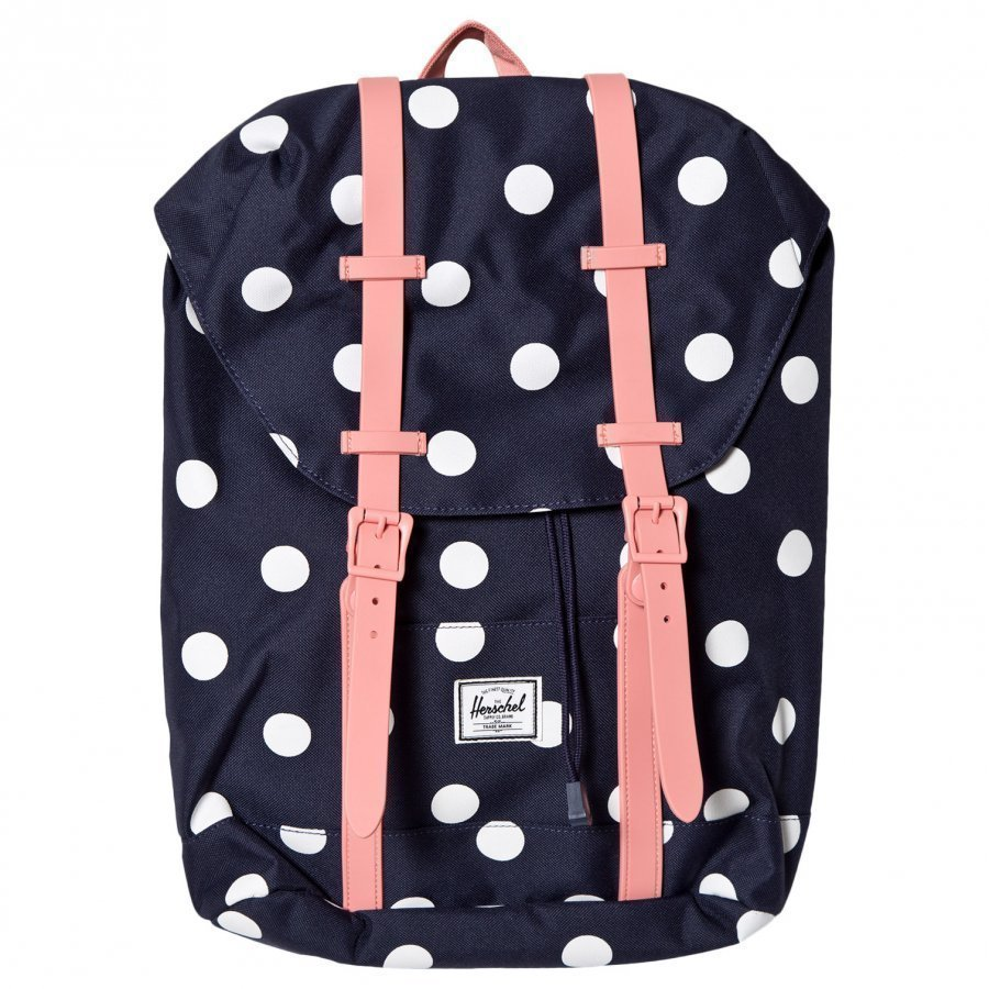 Herschel Retreat Youth Backpack Peacoat Polka Dot Reppu