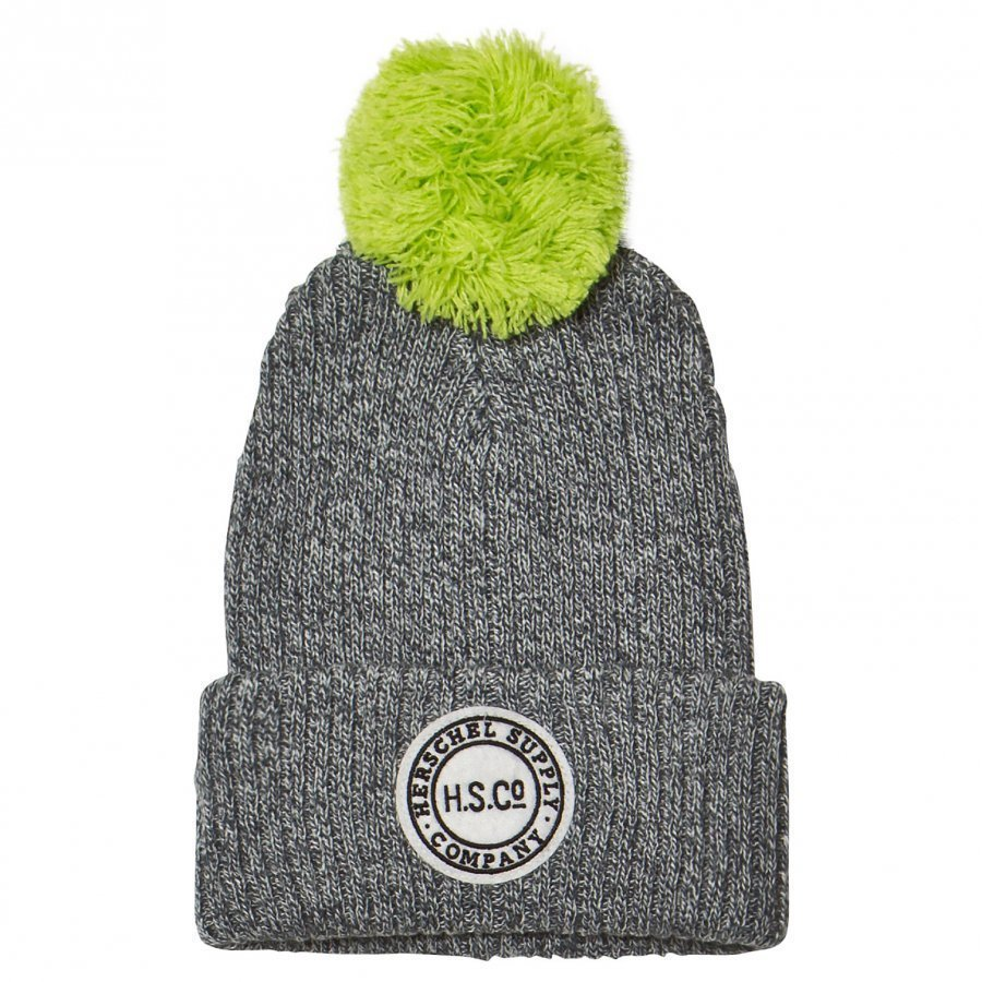 Herschel Sepp Youth Beanie Heathered Grey/Neon Lime Lippis