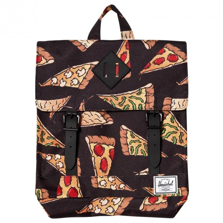 Herschel Survey Backpack Black Pizza Reppu