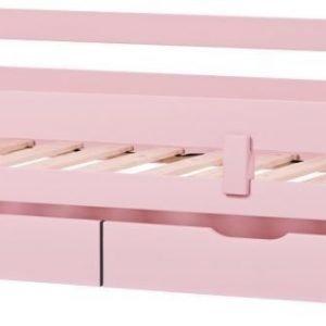 HoppeKids Ida Sängynaluslaatikko pyörillä 2 kpl Vaaleanpunainen