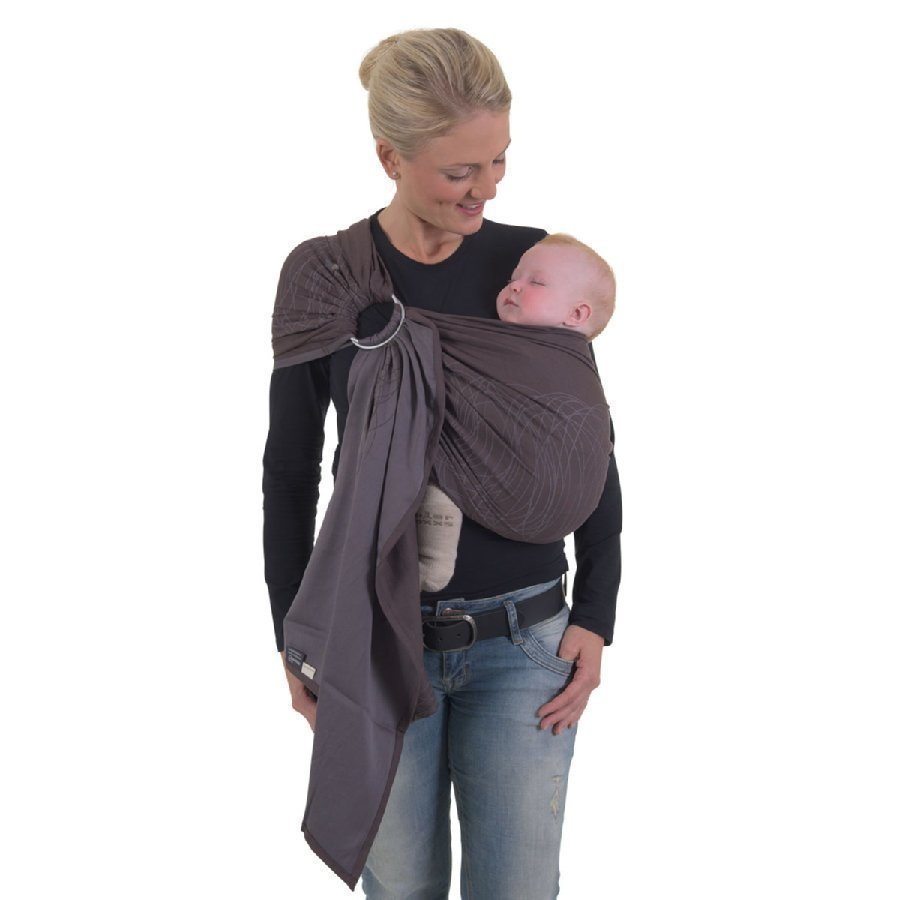 Hoppediz Ring Sling Kantoliina Jacquard New York Brown