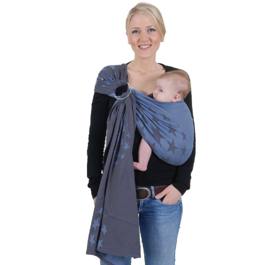 Hoppediz Ring Sling Kantoliina Los Angeles Smoke Blue
