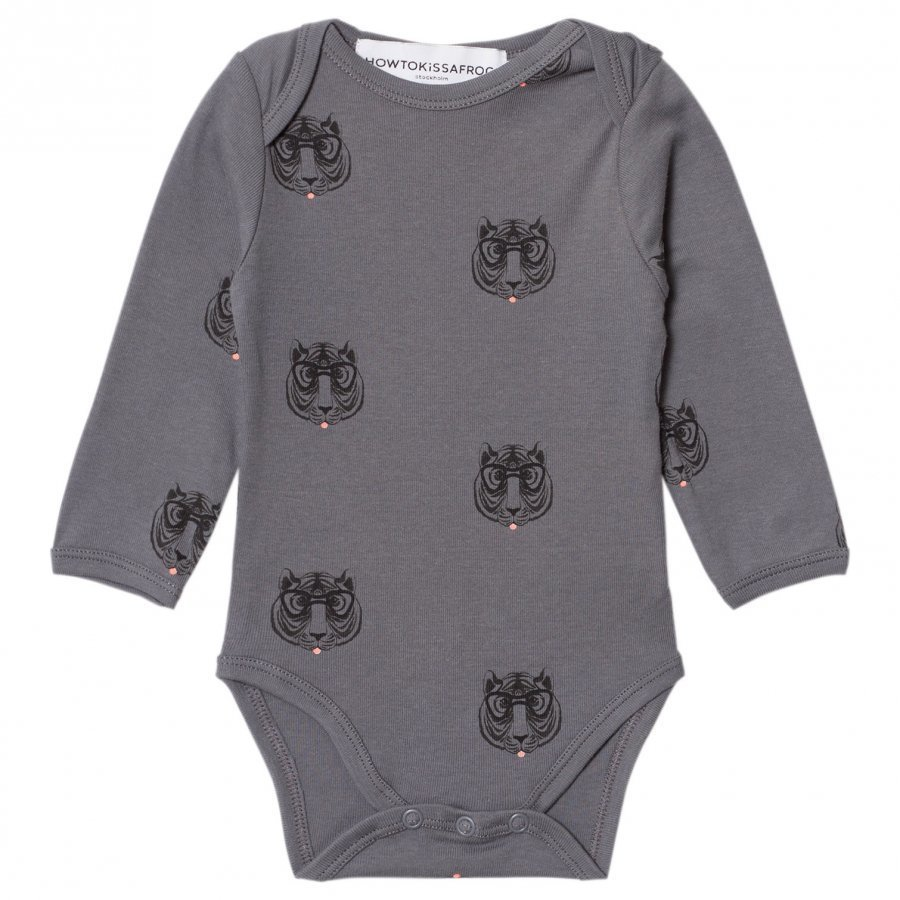 How To Kiss A Frog Body Print Allover Tiger Dk Grey Body