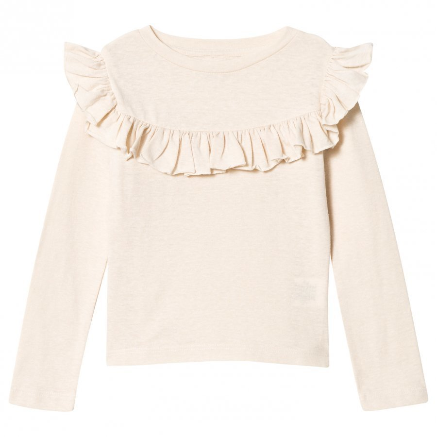 How To Kiss A Frog Frill Jumper Off White Pitkähihainen T-Paita
