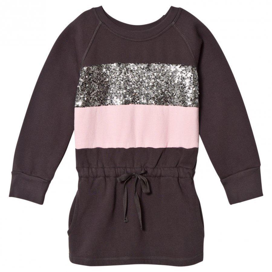 How To Kiss A Frog Gunnel Dress Dkgrey/Pink/Stripe Mekko