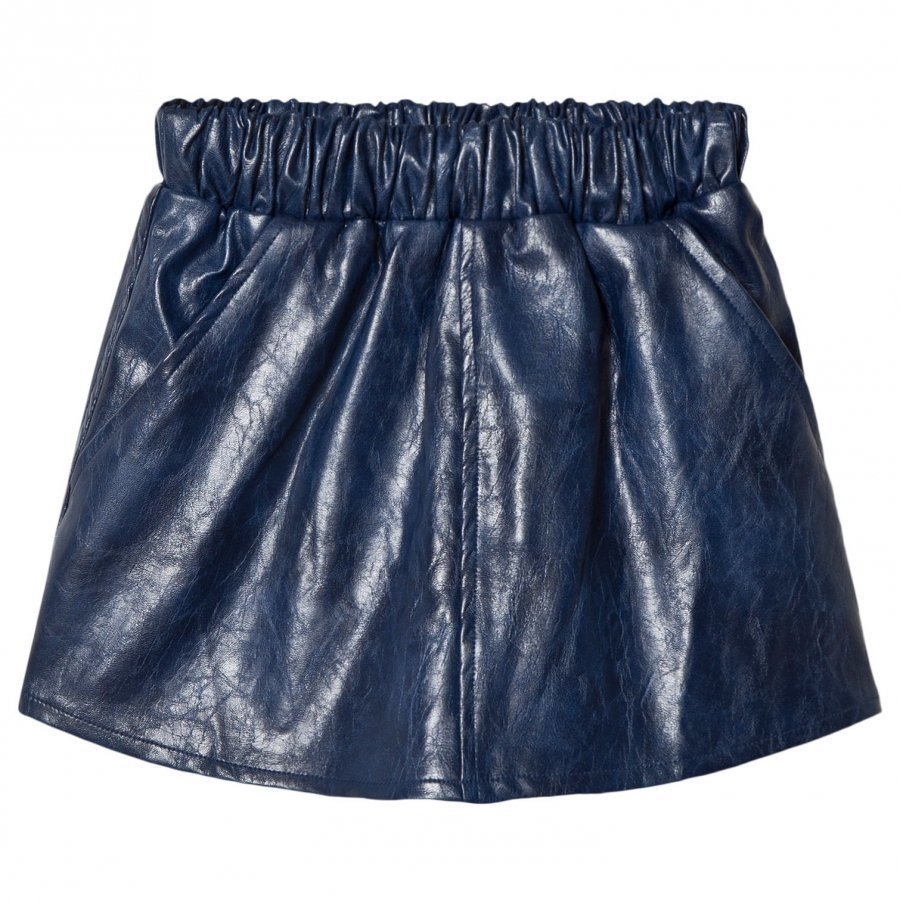 How To Kiss A Frog Peach Skirt Leather Blue Lyhyt Hame