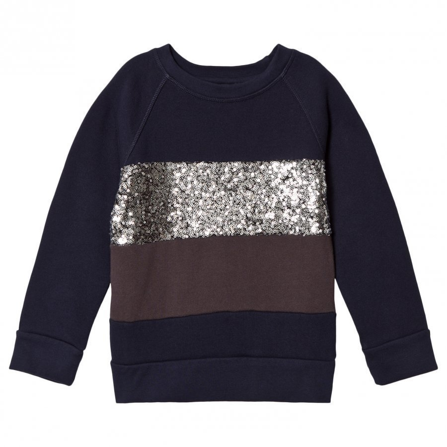 How To Kiss A Frog Siv Jumper Navy/Silver/Dk Grey Paita