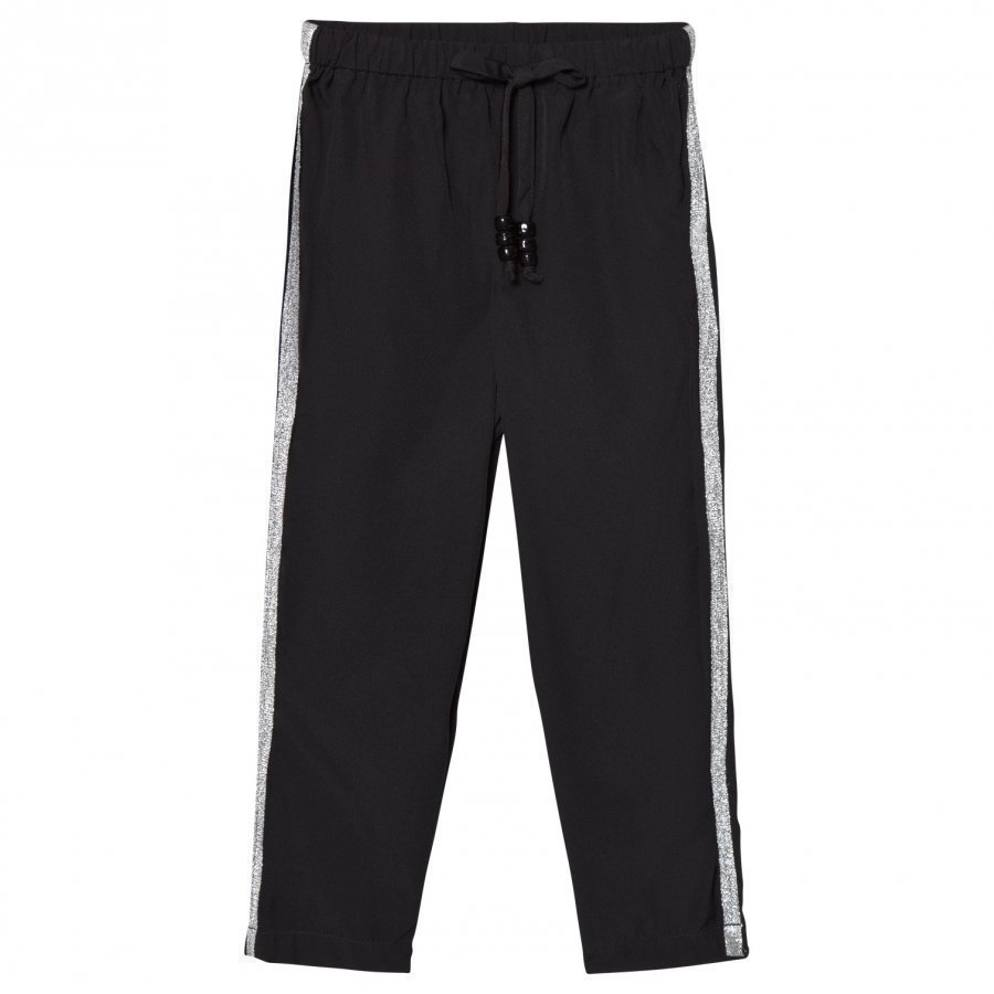 How To Kiss A Frog Speed Pants Black/Silver Housut