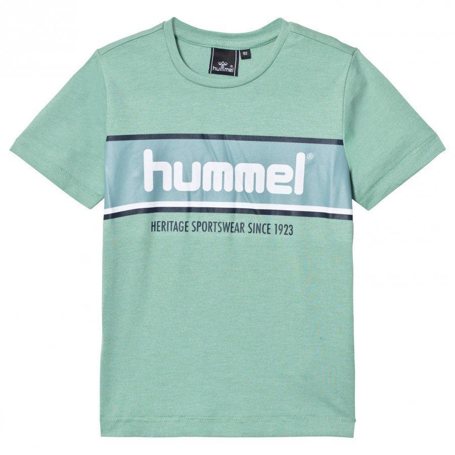 Hummel Jakob Tee Malachite Green T-Paita