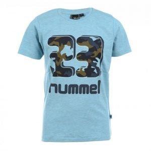 Hummel Josh Ss Tee Junior Urheilullinen T-paita Sininen