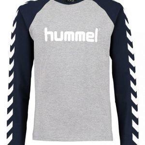 Hummel Logo Ls Poikien Trikoopusero