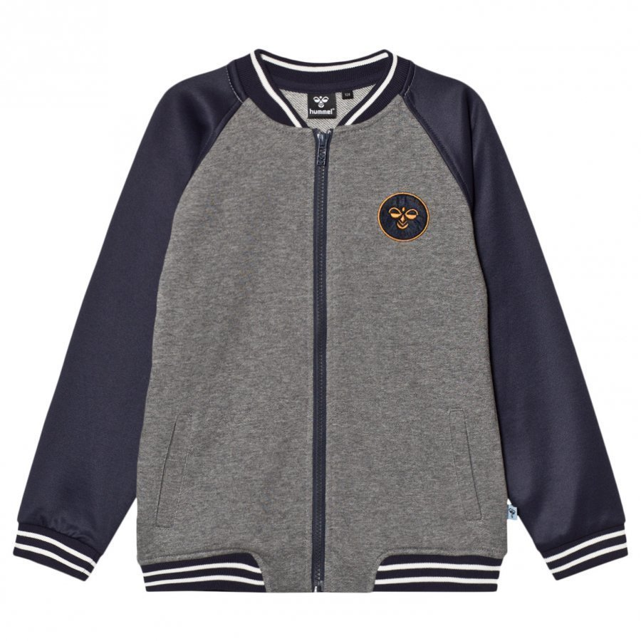 Hummelkids Frank Zip Jacket Blue Nights Verryttelytakki