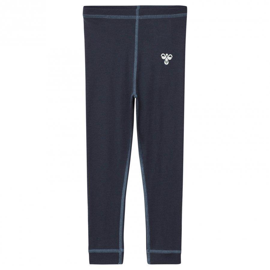 Hummelkids Hamar Wool Leggings Aw17 Blue Nights Legginsit