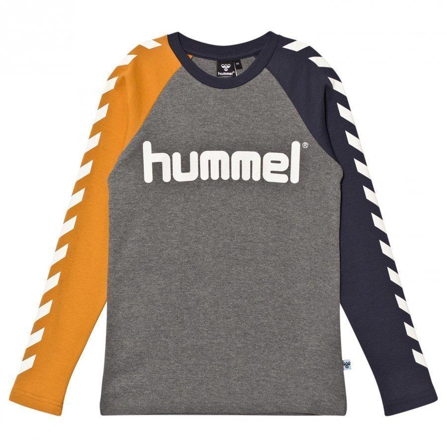 Hummelkids Lukas Long Sleeve Tee Inca Gold Pitkähihainen T-Paita