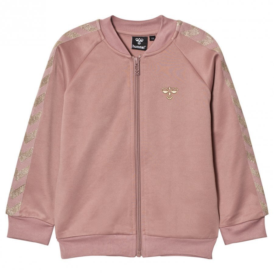 Hummelkids Olga Zip Sweater Wood Rose Gold Verryttelytakki