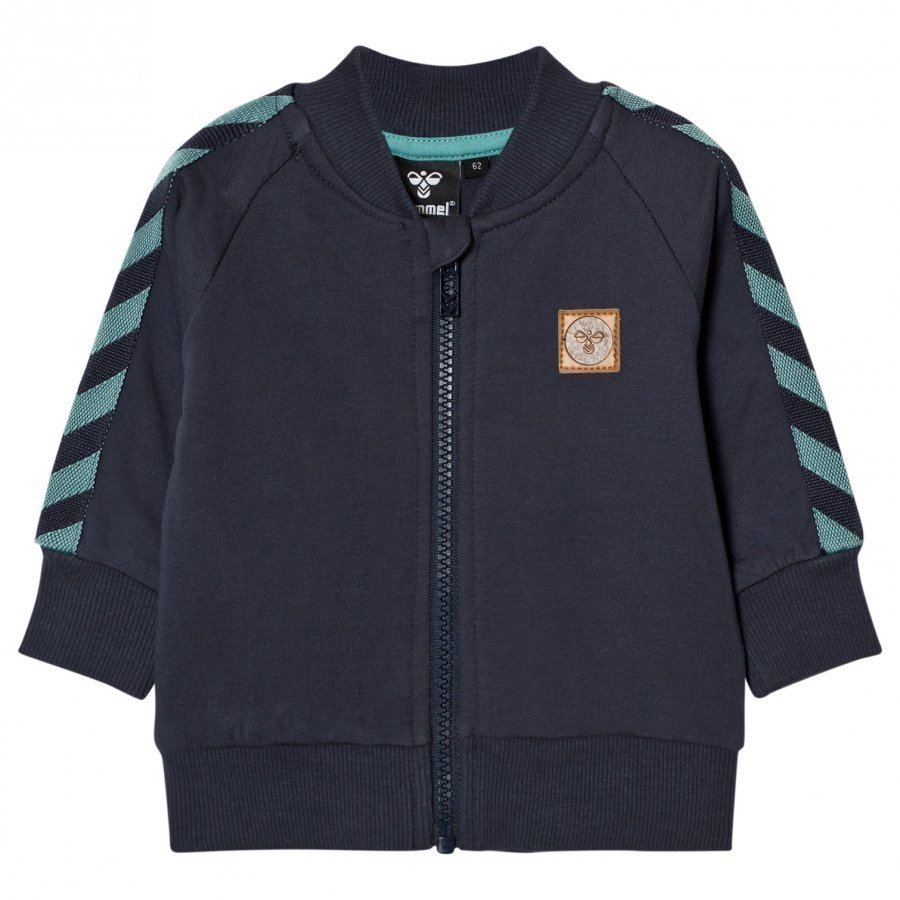 Hummelkids Ray Zip Sweater Night Blue Verryttelytakki