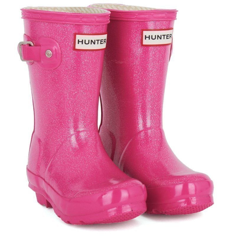 Hunter Orig Kids Glitter Fuschia Kumisaappaat