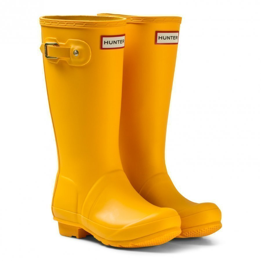 Hunter Original Kids Wellington Boots Yellow Kumisaappaat