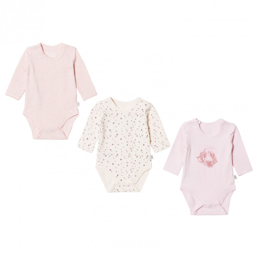 Hust & Claire 3-Pack Bodysuit Soft Rose Body