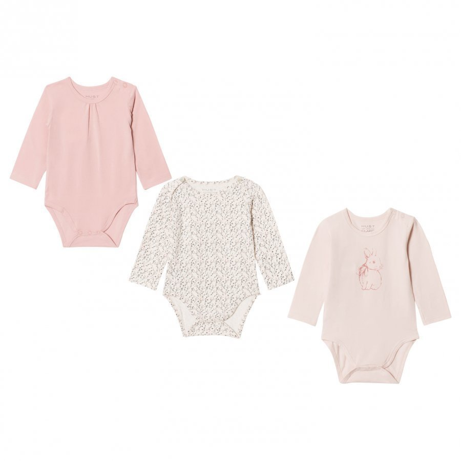 Hust & Claire Bodysuit 3-Pack Dusty Rose Body