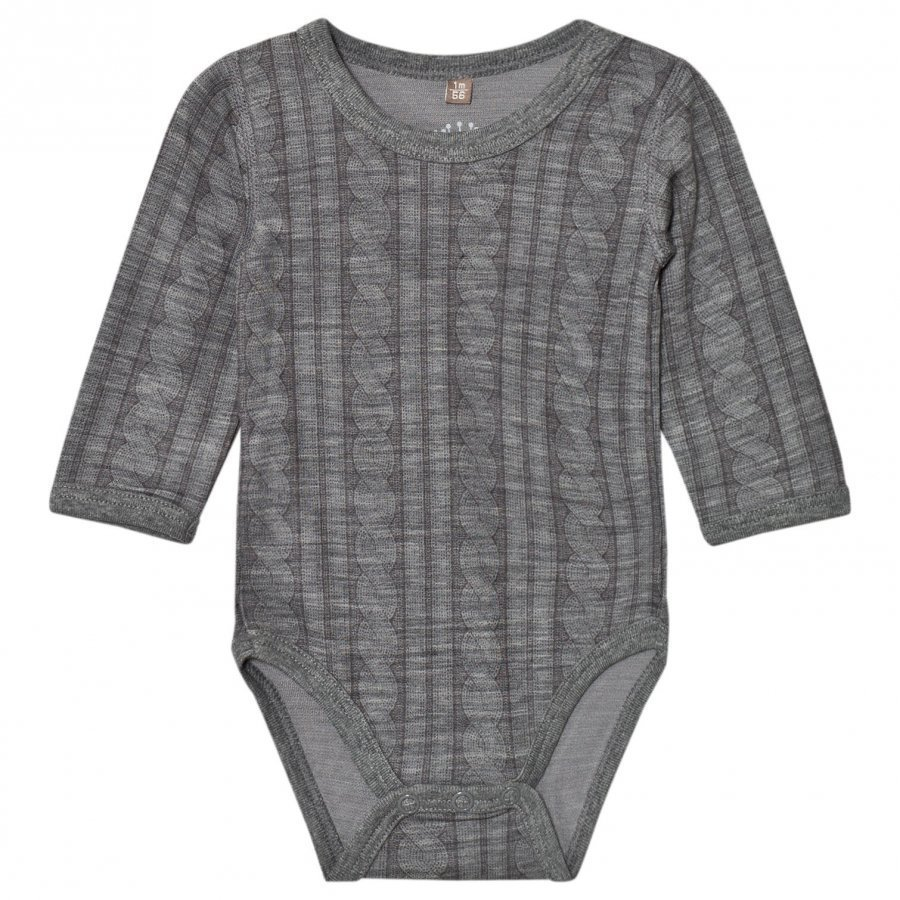 Hust & Claire Cable Baby Body Wool Grey Body