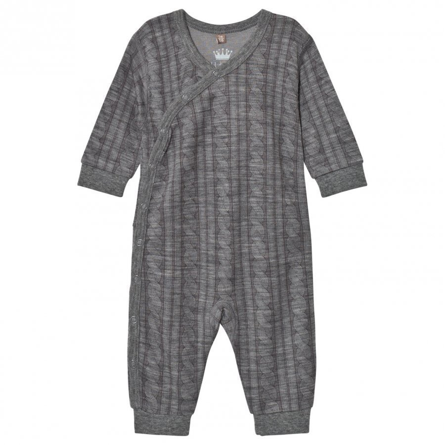 Hust & Claire Cable One-Piece Wool Grey Potkupuku