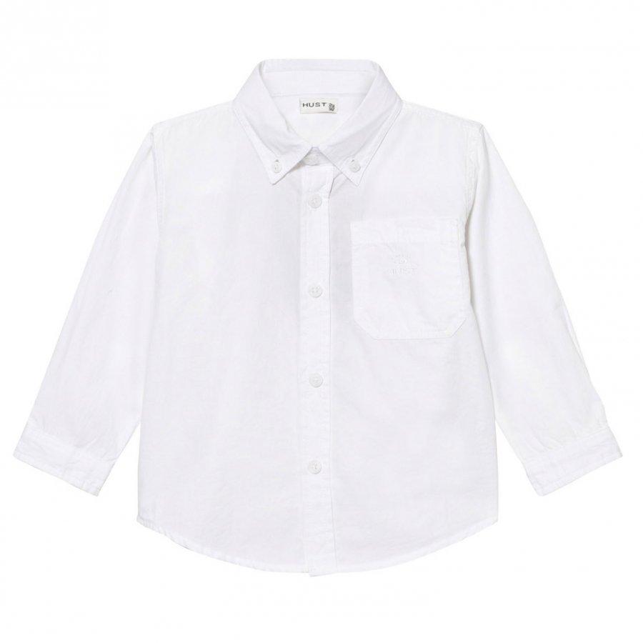 Hust & Claire Classic Shirt White Kauluspaita