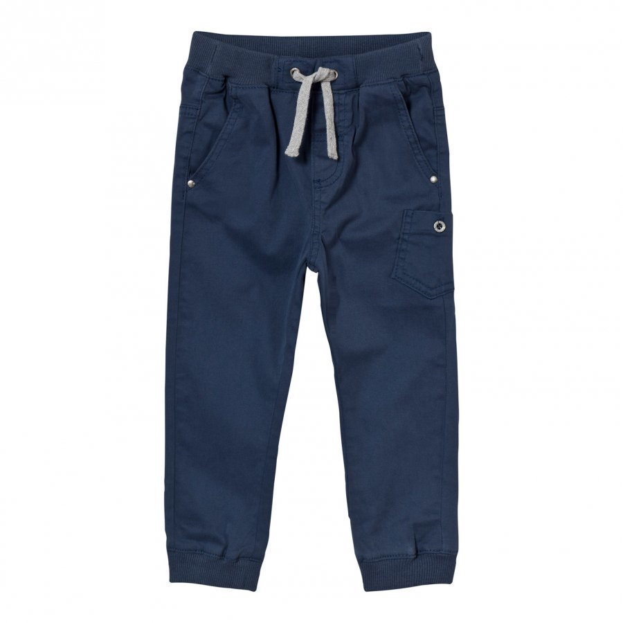Hust & Claire Coloured Twill Trousers Blue Moon Housut