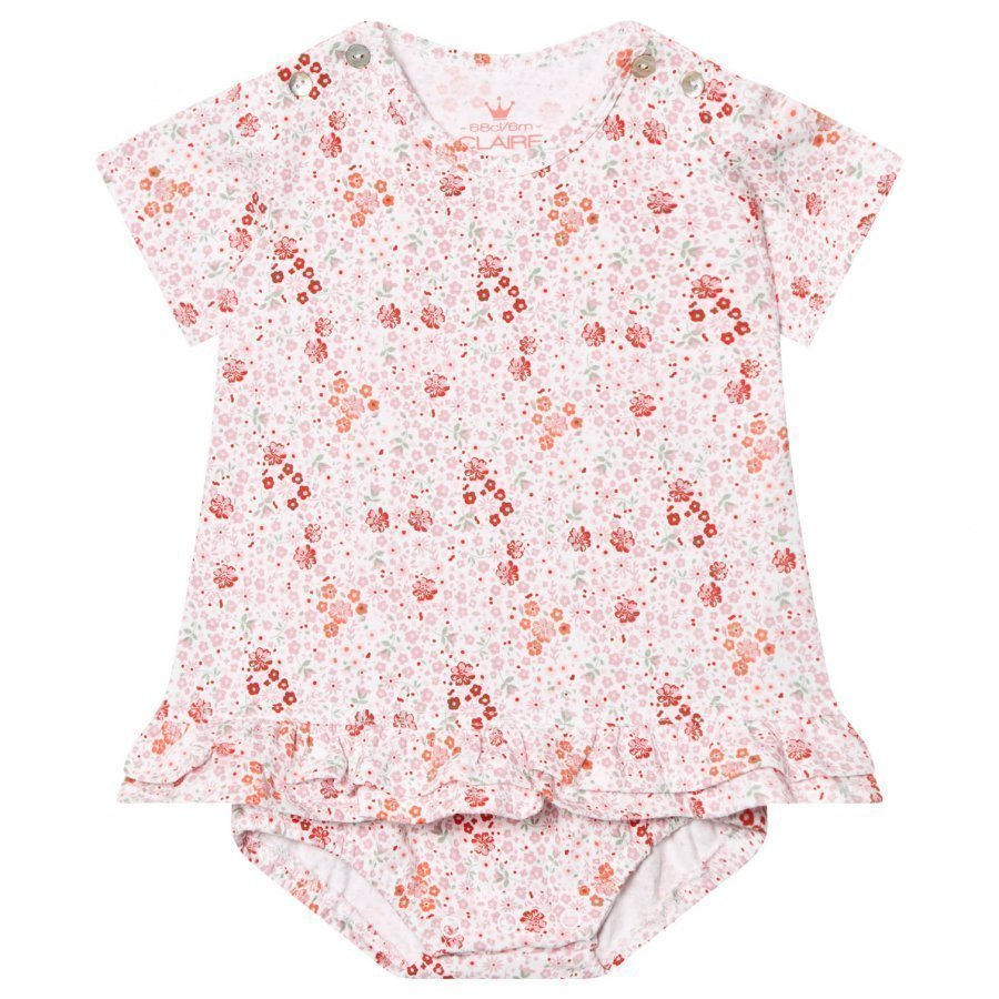 Hust & Claire Floral Baby Body Dress White Mekko