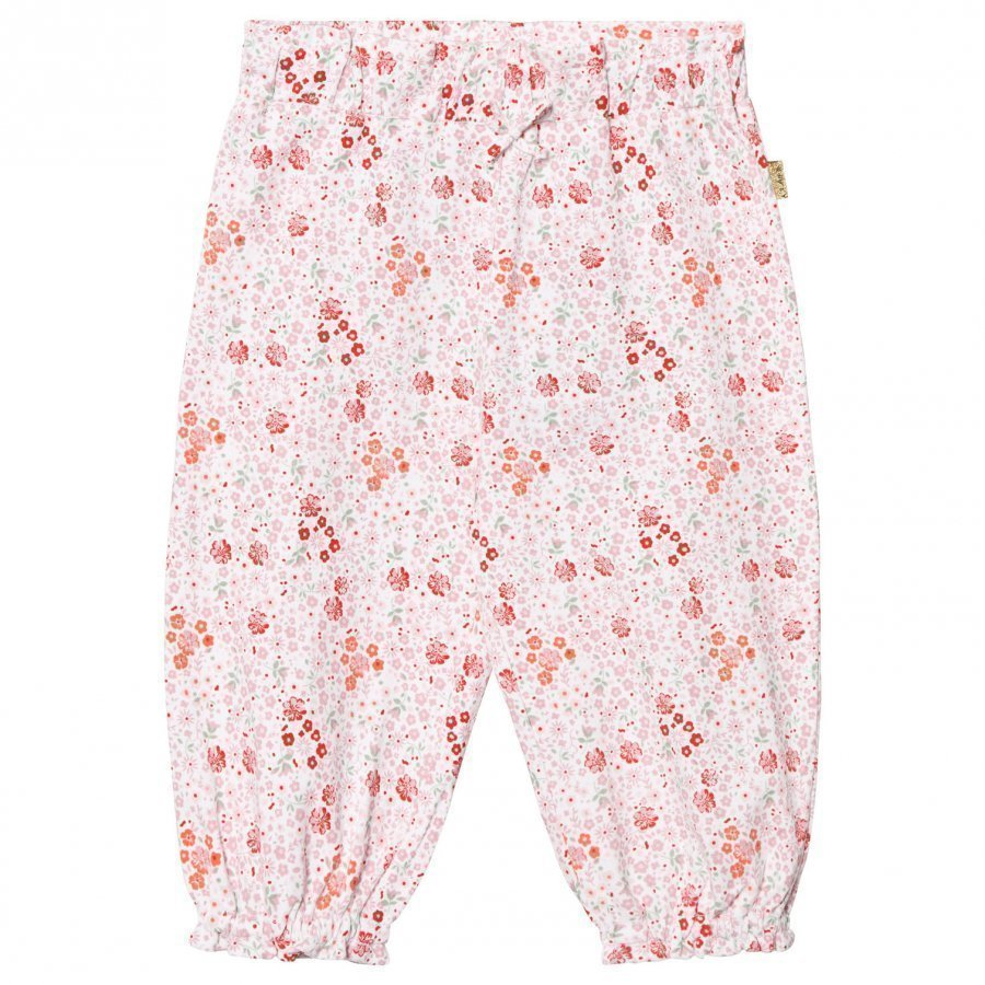 Hust & Claire Floral Jersey Trousers White Housut