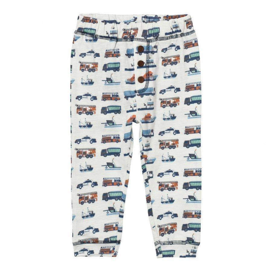 Hust & Claire Jersey Trousers With Print Ivory Housut