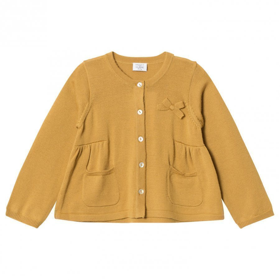 Hust & Claire Knit Cardigan Curry Neuletakki