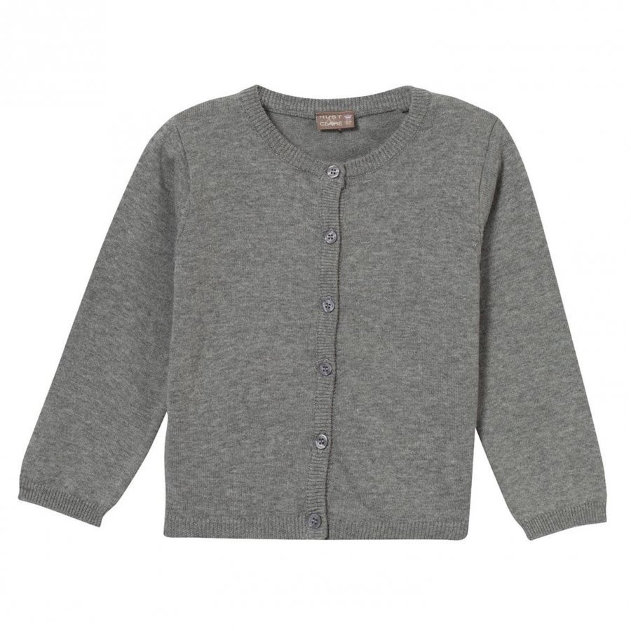 Hust & Claire Knit Cardigan Light Grey Melange Neuletakki