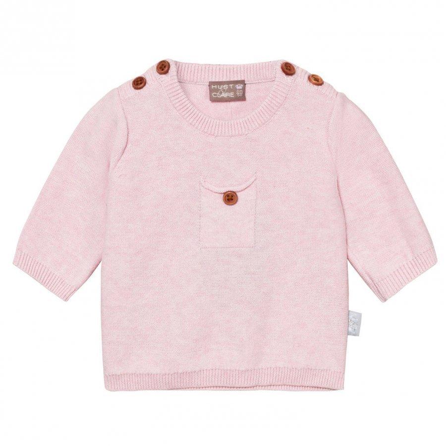 Hust & Claire Knit Jumper With Pocket Rosé Melange Paita