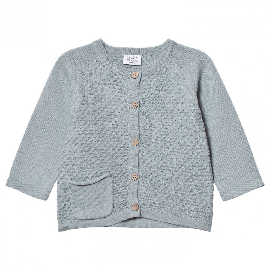 Hust & Claire Knitted Cardigan Petrol Neuletakki