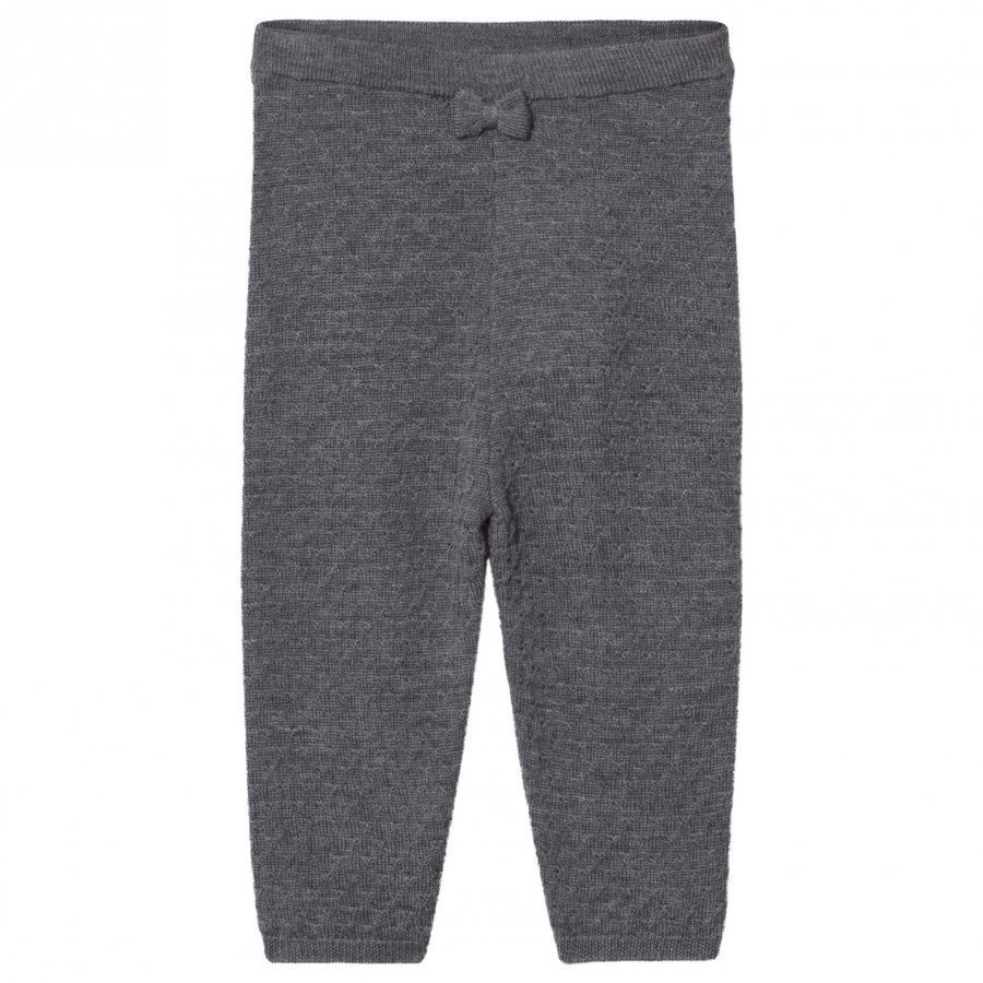Hust & Claire Knitted Pants Antracite Melange Housut