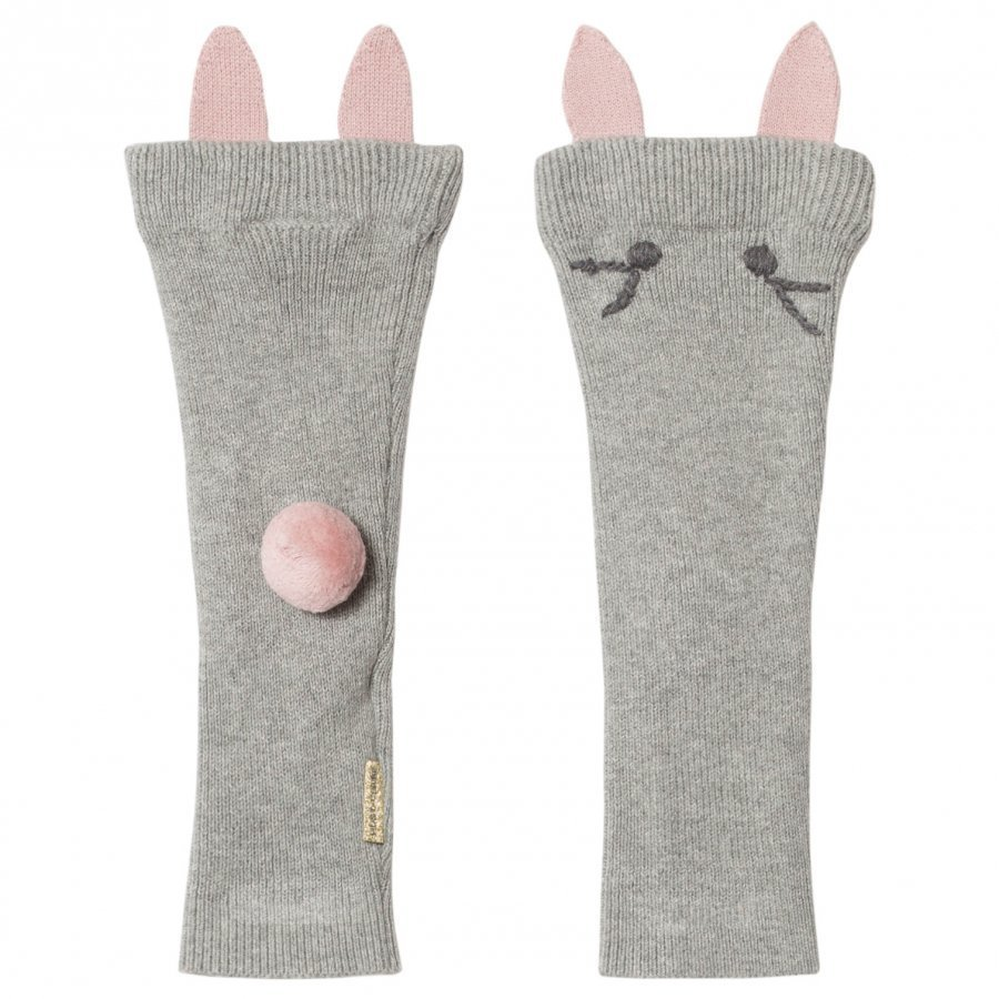 Hust & Claire Leg Warmers Light Grey Melange Säärystimet