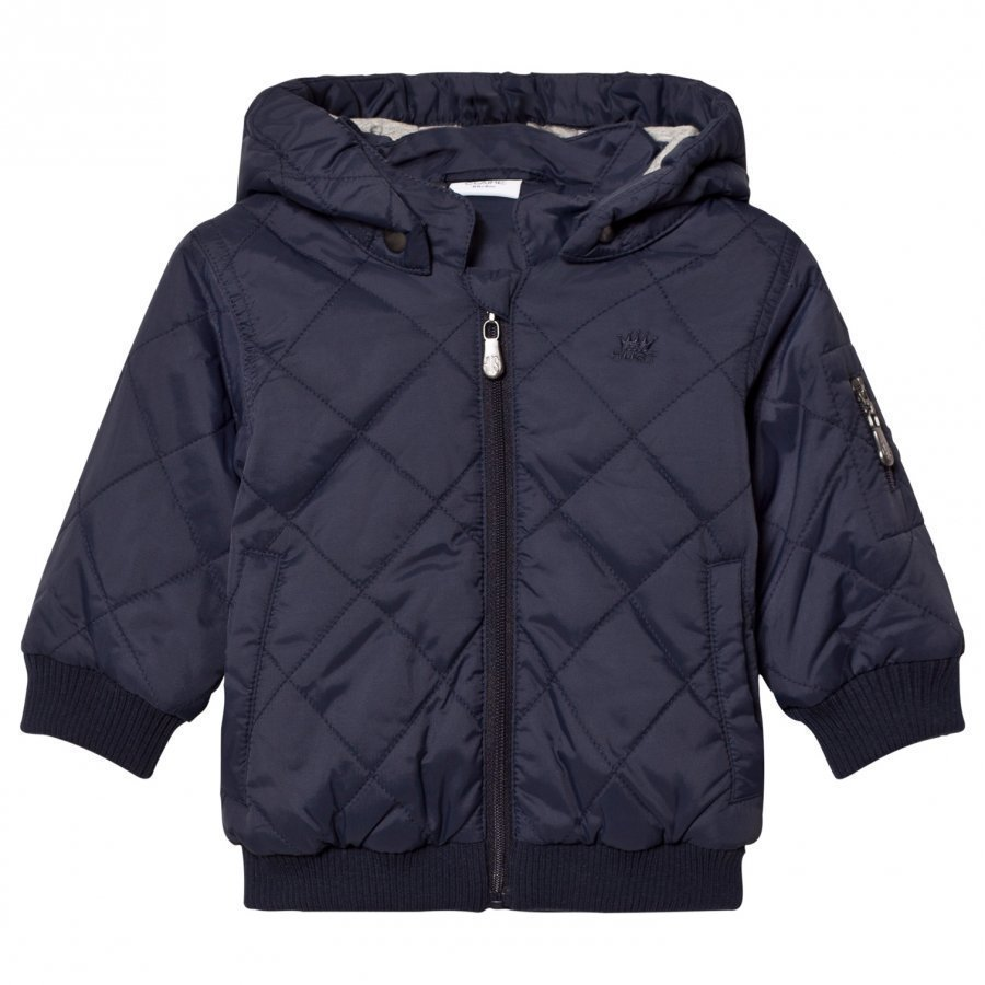 Hust & Claire Navy Quilted Jacket Toppatakki